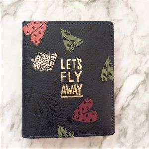 Fossil NWT Lets fly away butterfly passport holder